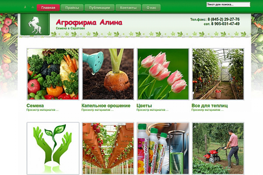 Сайт Агрофирма Алина